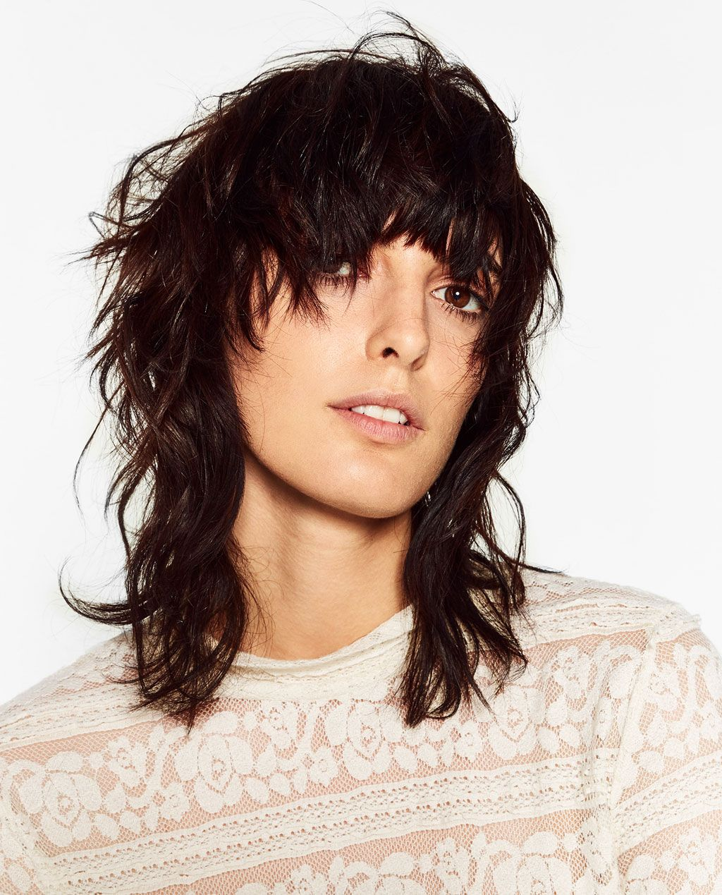 Image 10 of LACE TOP from Zara  Hair styles, Mullet hairstyle