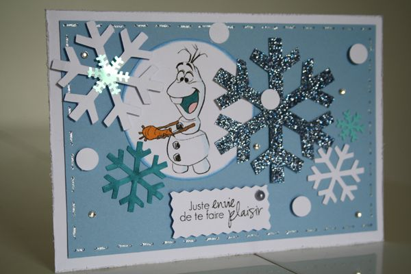 Sab booking   Carte Olaf   La reine des neiges | Cartes reine des