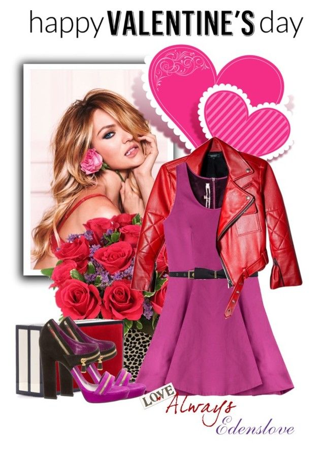 """""""Happy Love Day Everyone"""" by edenslove ❤ liked on Polyvore featuring McQ by Alexander McQueen, Lanvin, Jimmy Choo, Sergio Rossi, women's clothing, women, female, woman, misses and juniors"""