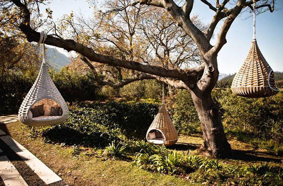 Hängende Lounge Sessel Garten