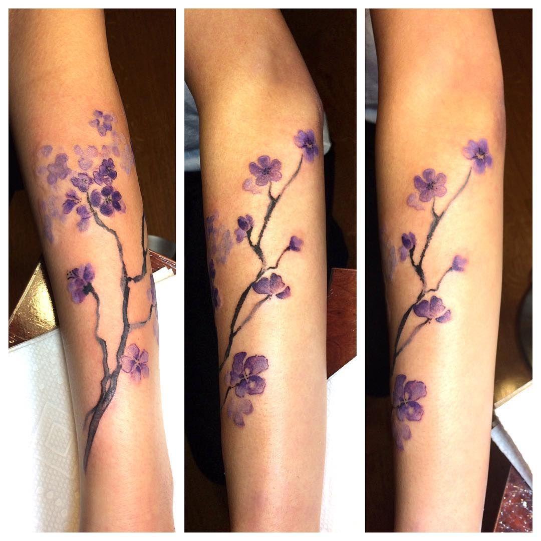 Watercolor Cherry Blossom Tattoo Idea Cherry Blossom Art