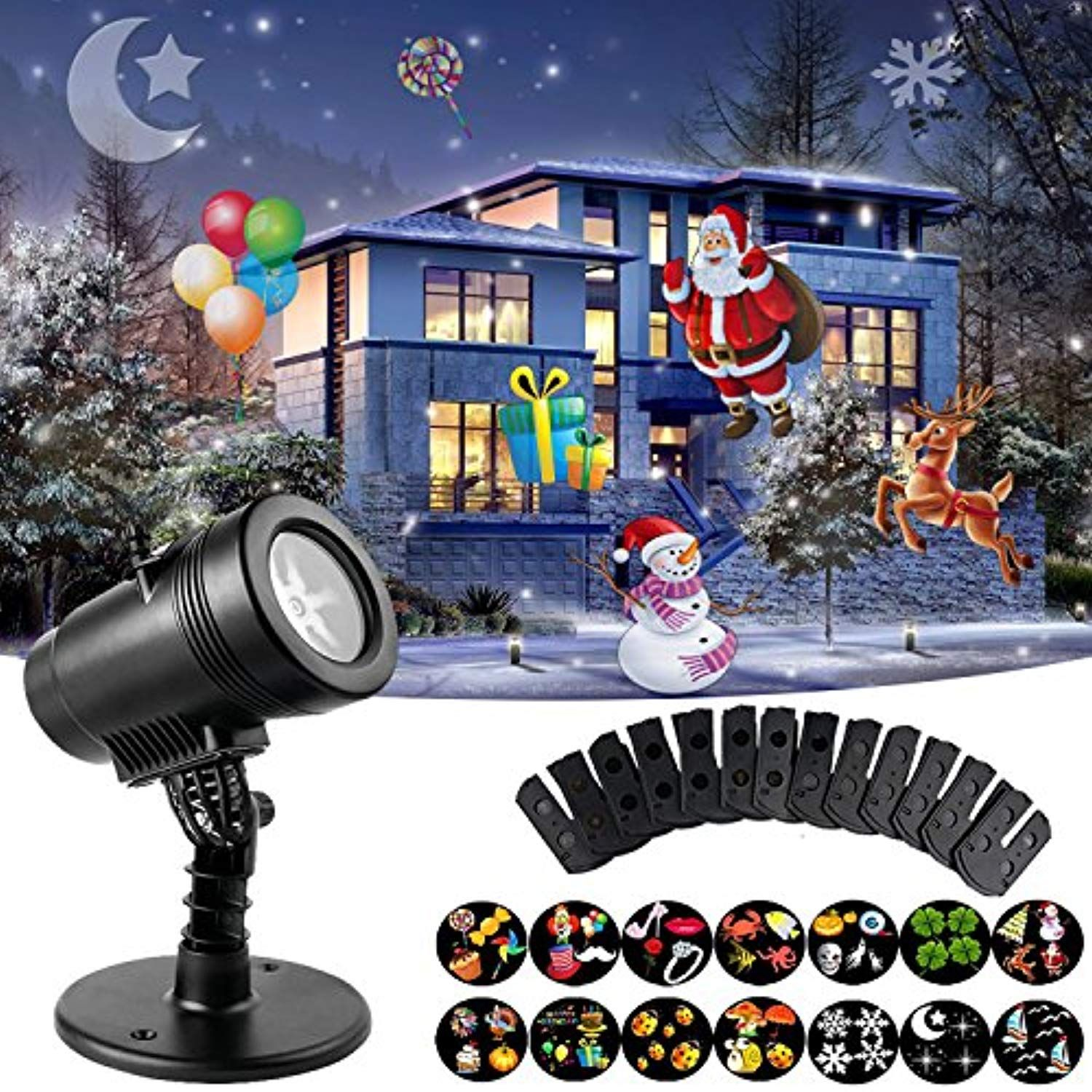 Christmas Lights Birthday Party Landscape Motion LED Projector