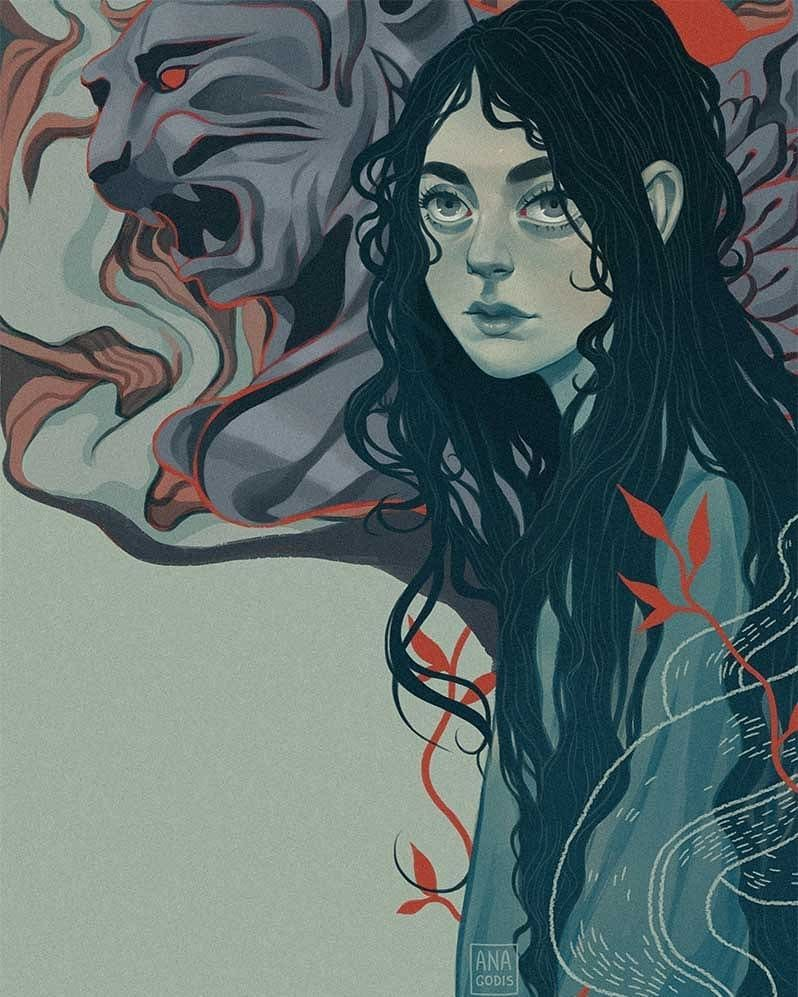 by Ana Godis   Character art, Illustration art, Art drawings