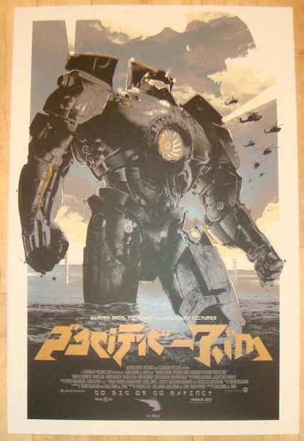 "2013 ""Pacific Rim"" - Variant Movie Poster by Domaradzki"