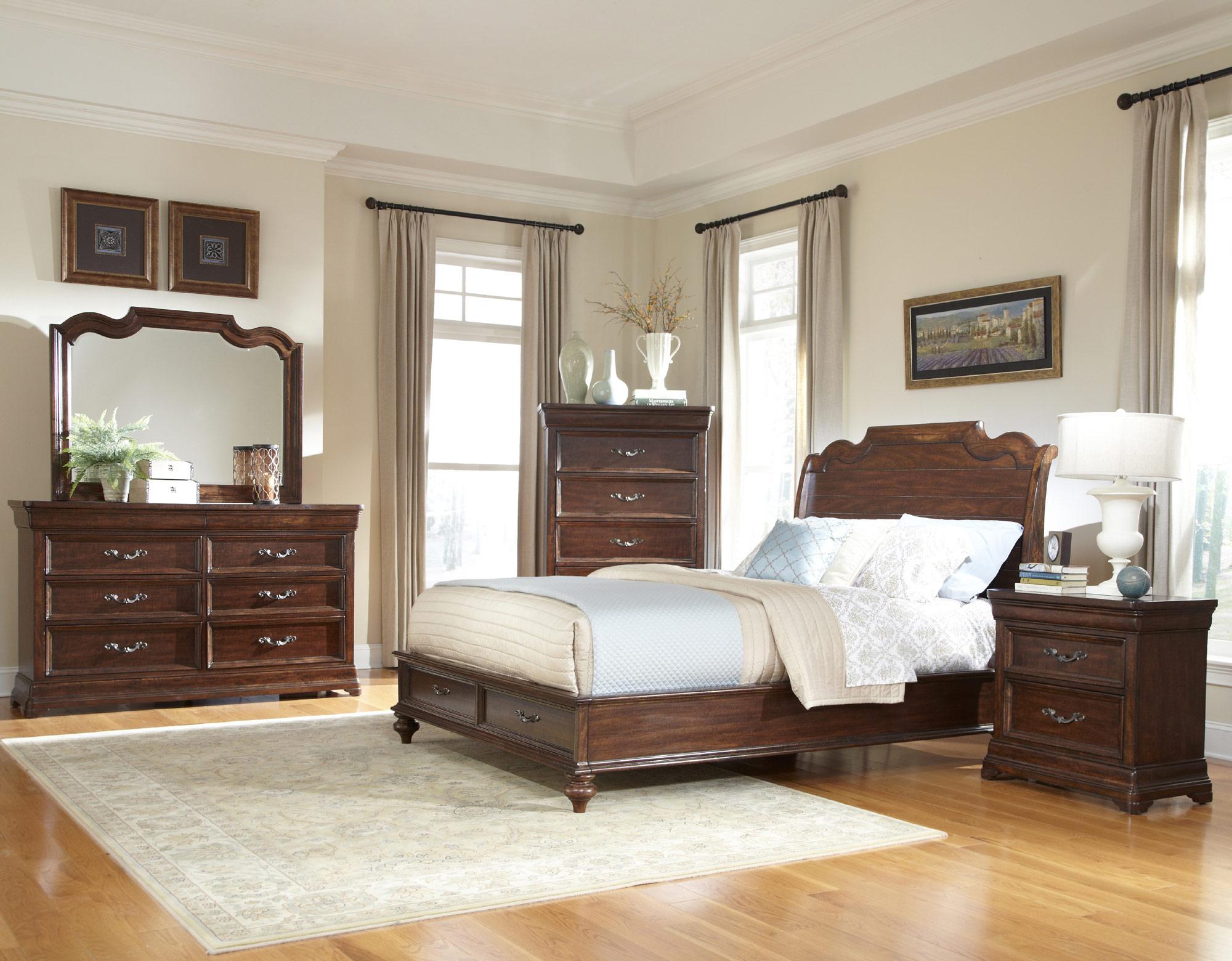 Signature King Sleigh Storage Bedroom Set   American ...