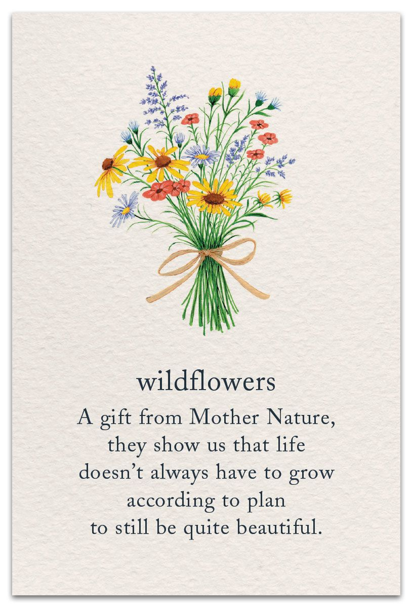 Wildflowers Birthday Card Cardthartic Com Flower Quotes Flower Meanings Symbols And Meanings