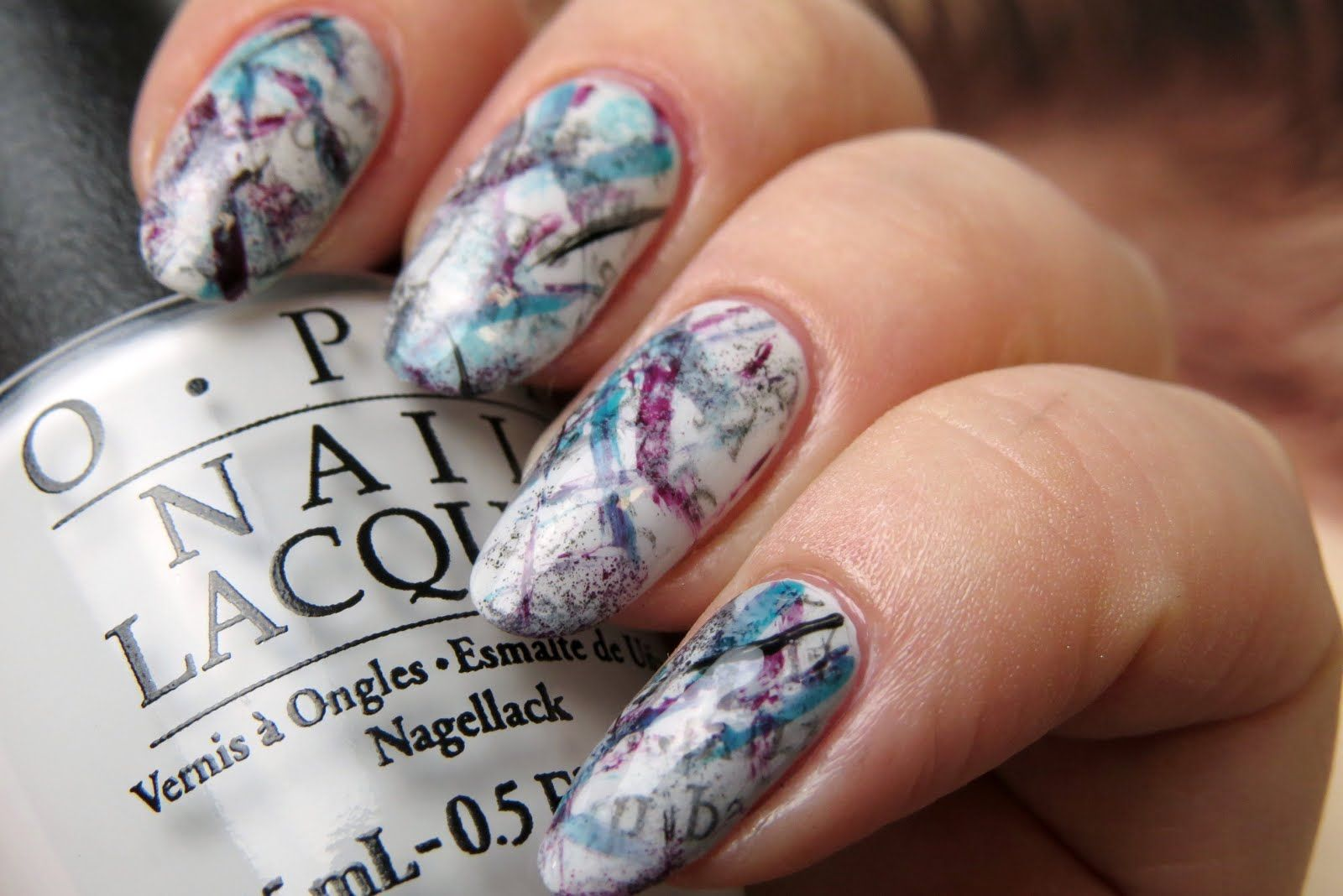 Graffiti Nail Art Design with Newspaper | Kaitlyn Elisabeth Beauty ...