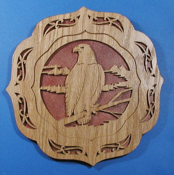 the best attitude 93360 ec64d Eagle Plate Plaque Cut On Scroll Saw | melvin | Aigle, Scie ...