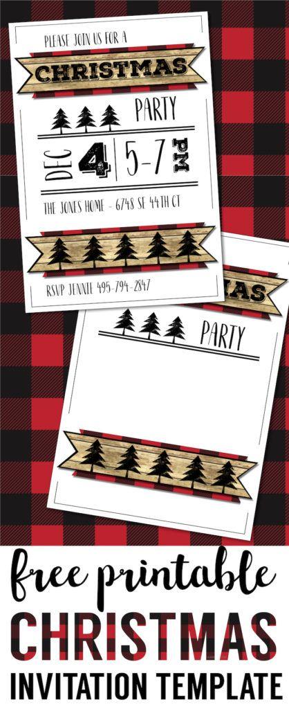 Christmas Party Invitation Templates Free Printable Free