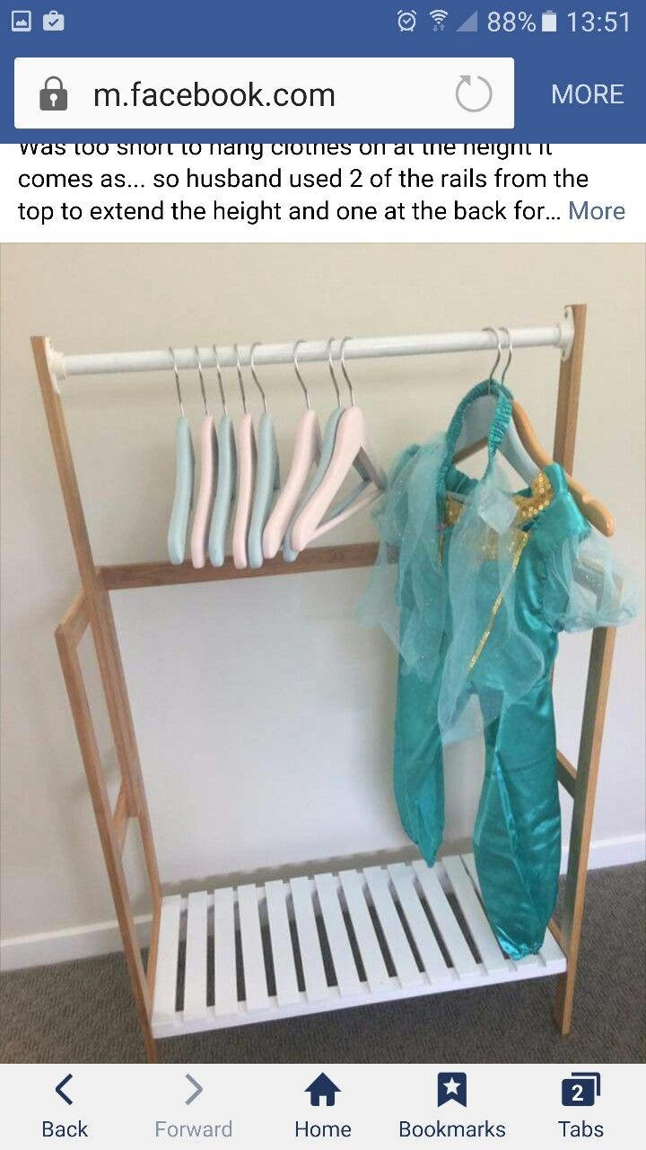 Bamboo Towel Rail Hack For Dress Ups