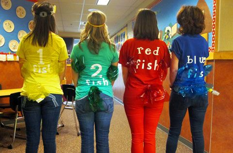 Character day book character dress up day pinterest for One fish two fish costume
