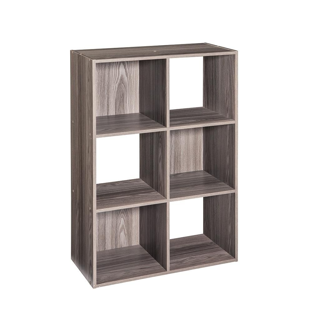 Closetmaid 12 in x 24 in x 36 in gray stackable 6cube