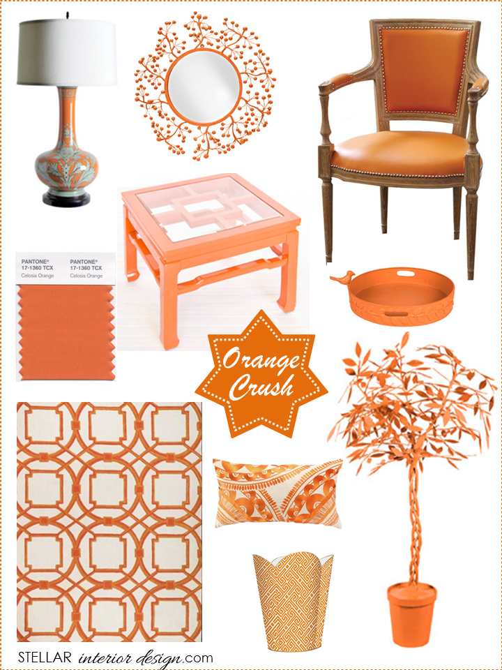 Interior Design Boards, Orange Home Dcor, Layla Grayce, Online Interior  Design Services,
