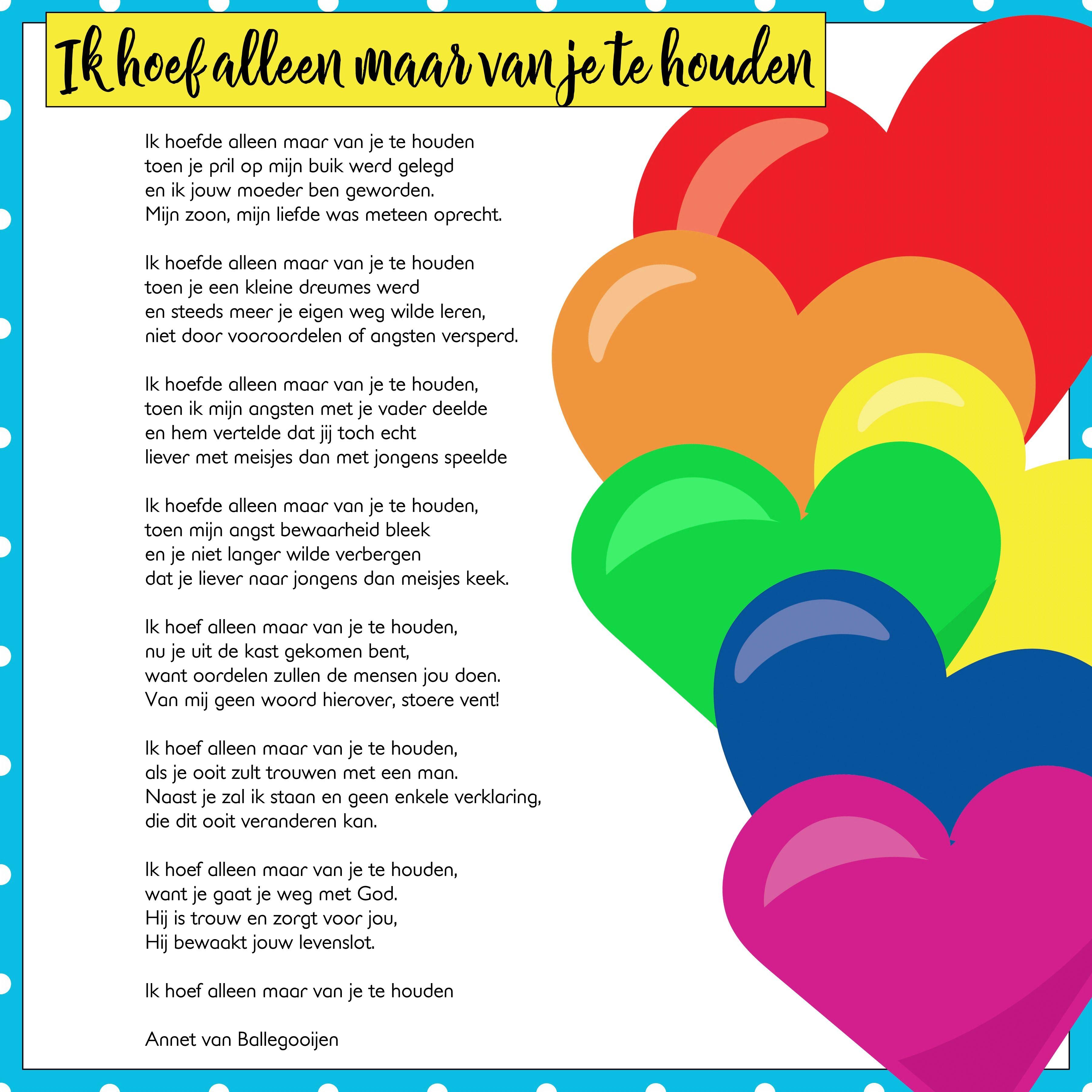 Gedicht Ik Hoef Alleen Maar Van Je Te Houden Gedichten