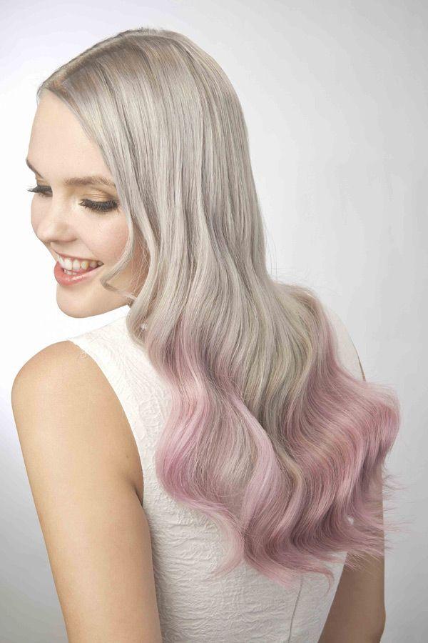 Haare rosa spitzen