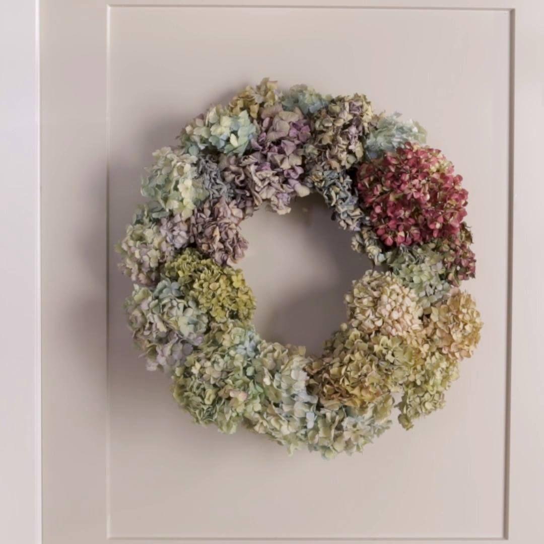 Better homes gardens dried flower wreaths hydrangea