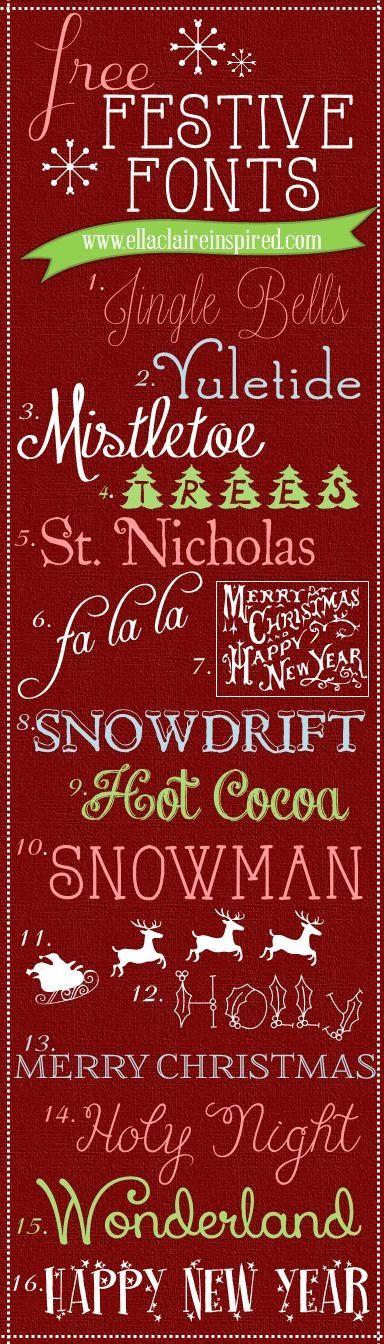 Wisdom in fonts! Christmas fonts, Fancy fonts, Lettering