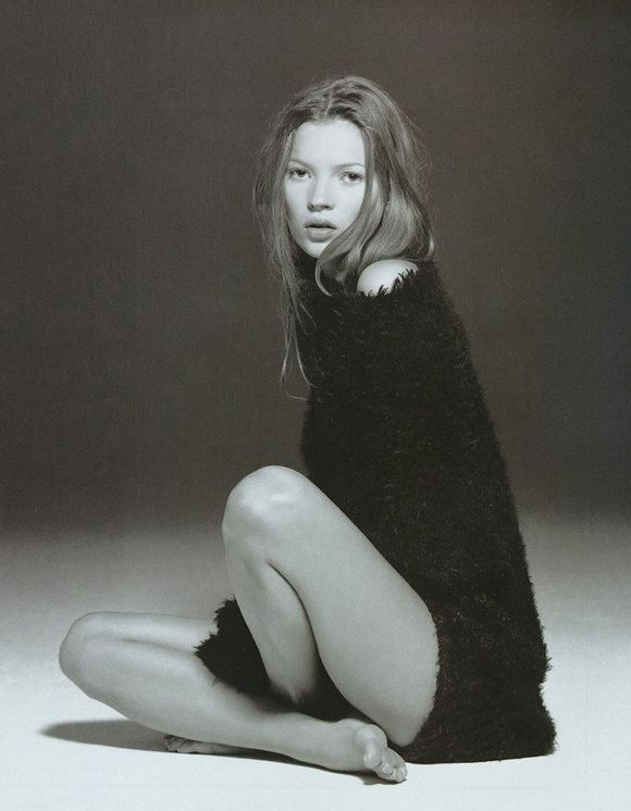 Kate Moss styled by Carine Roitfeld for Glamour France