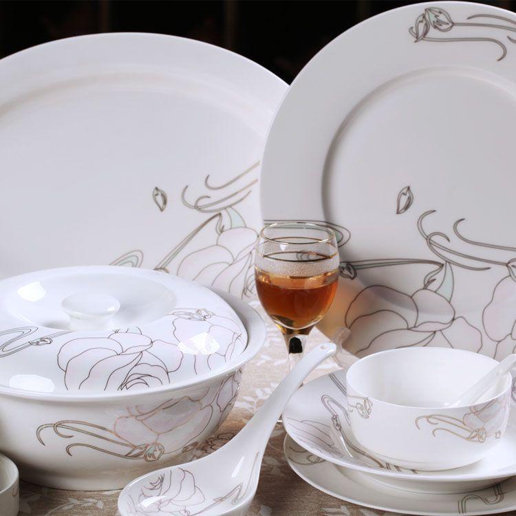Ceramic Tableware 56 Dinnerware Sets Chanel Tableware Set Ceramic Tableware Tableware