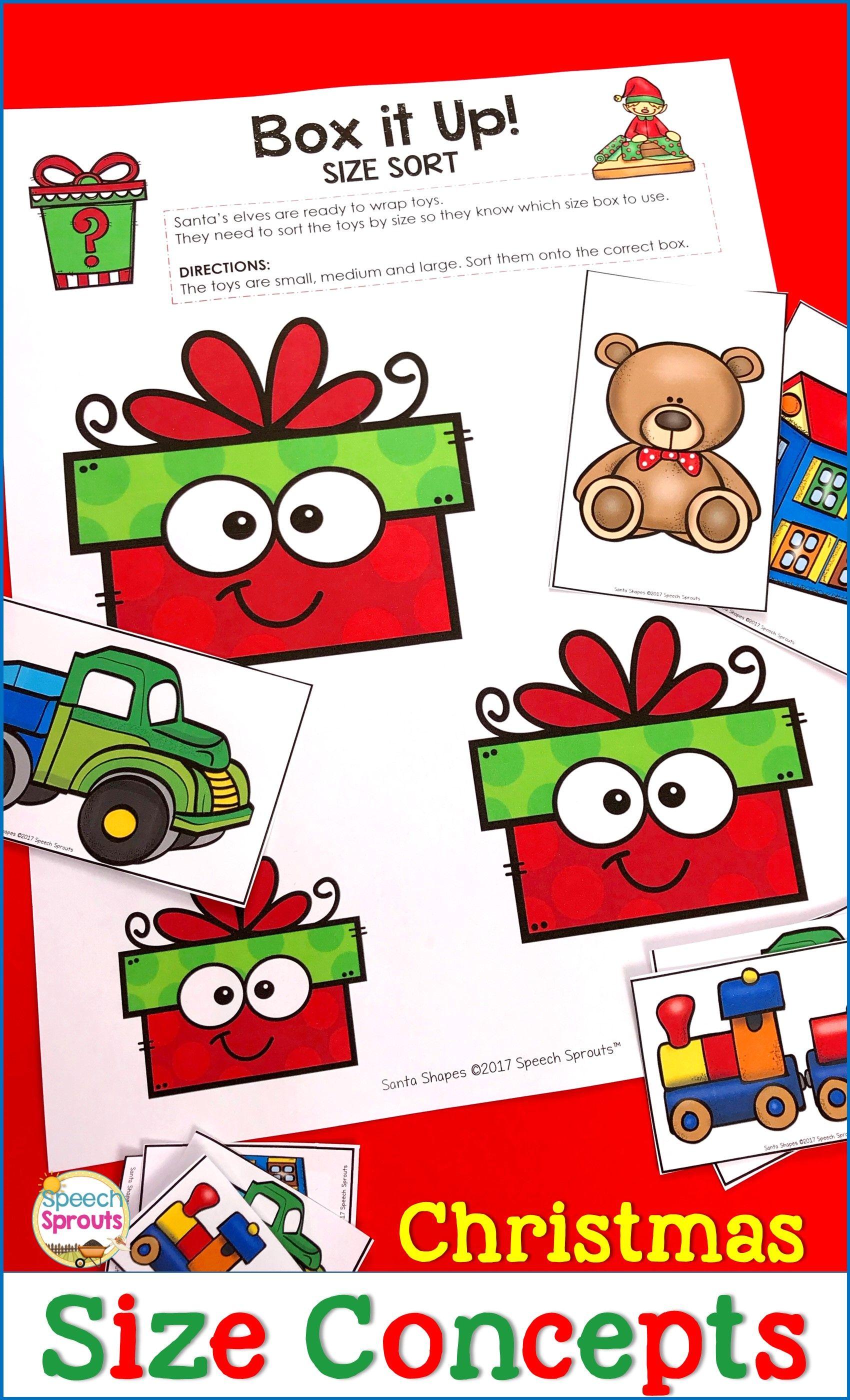 Christmas Speech And Language Activities Small Medium