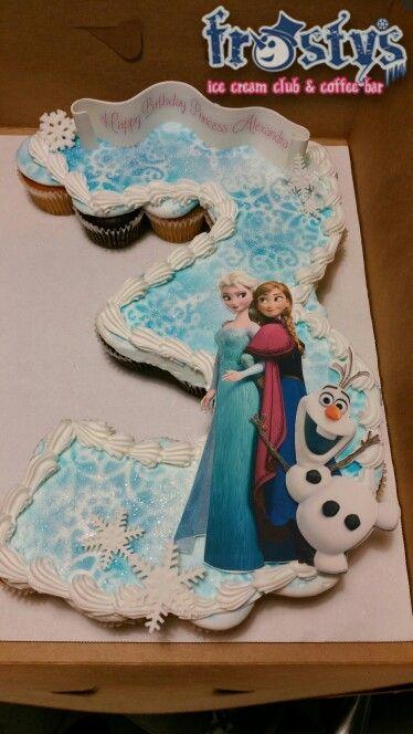 Frozen Anna Elsa Olaf number cupcake cake Cupcakes Pinterest