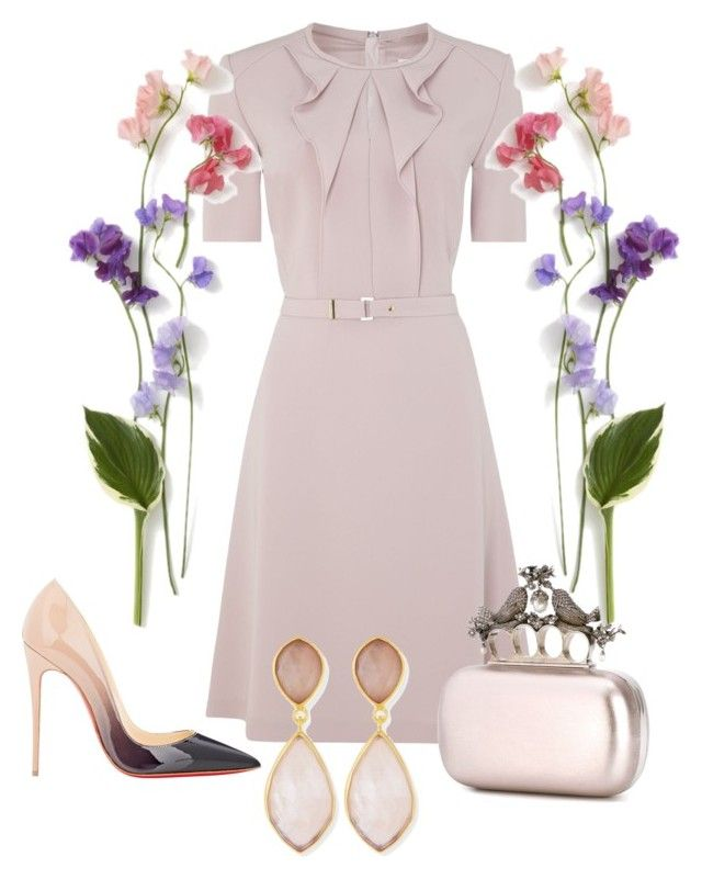 """""""Outfit # 3240"""" by miriam83 ❤ liked on Polyvore featuring HUGO, Christian Louboutin, Alexander McQueen and Dina Mackney"""