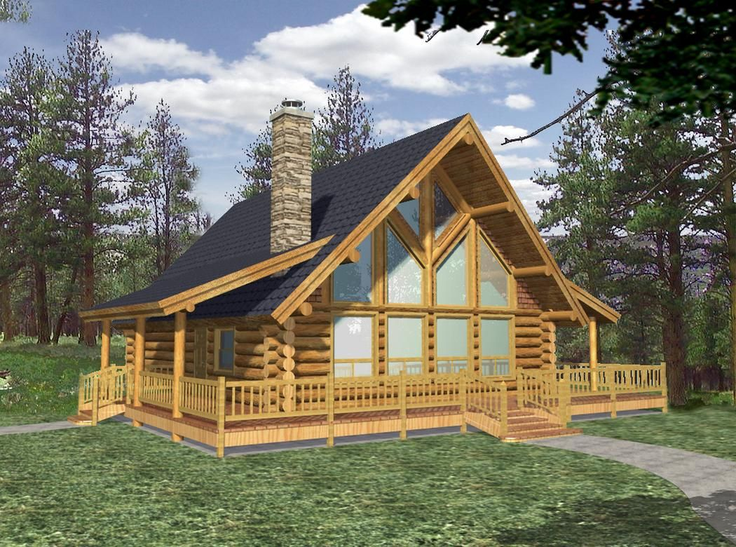 Finally A One Story Log Home That Has It All Click To View Floor Plan Cabin Style Homes Log Home Plans Log Cabin Homes