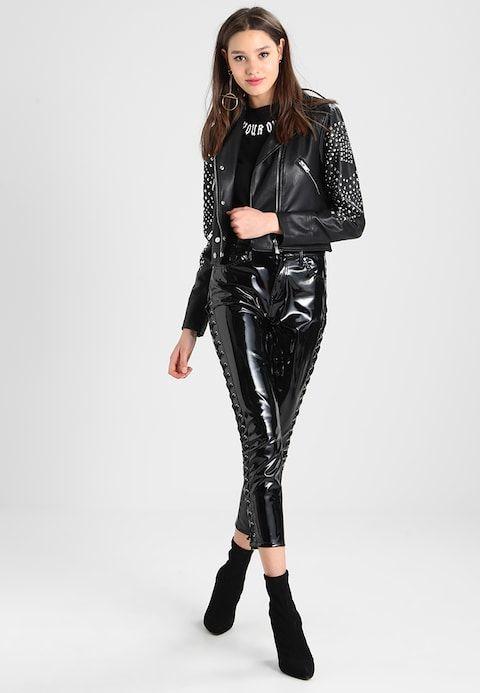 a70f2157466bf Faux leather jacket - noir @ Zalando.co.uk 🛒 | Patent leather & PVC ...
