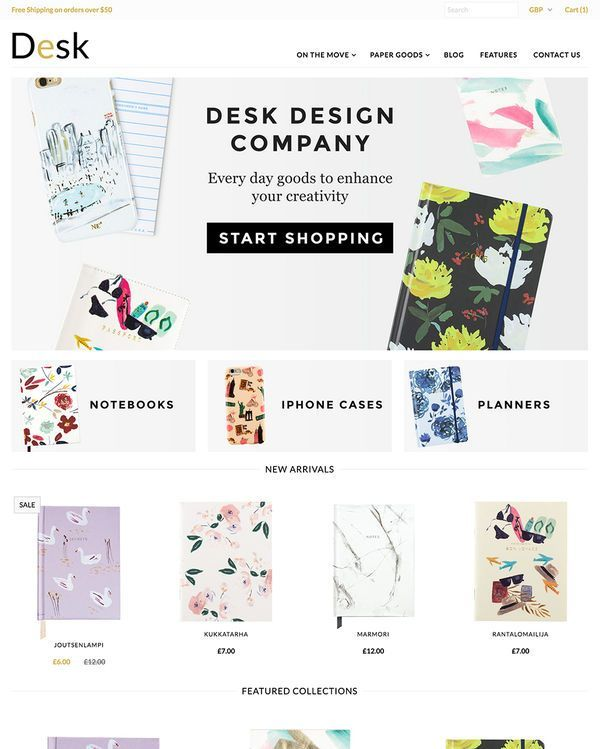 Get Creative With These Awesome Art Supplies Stationery Store Shopify Themes Buildify Shopify Theme Stationery Store Ecommerce Website Template