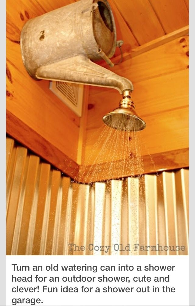 Cool Idea For Outdoor Or Garage Shower