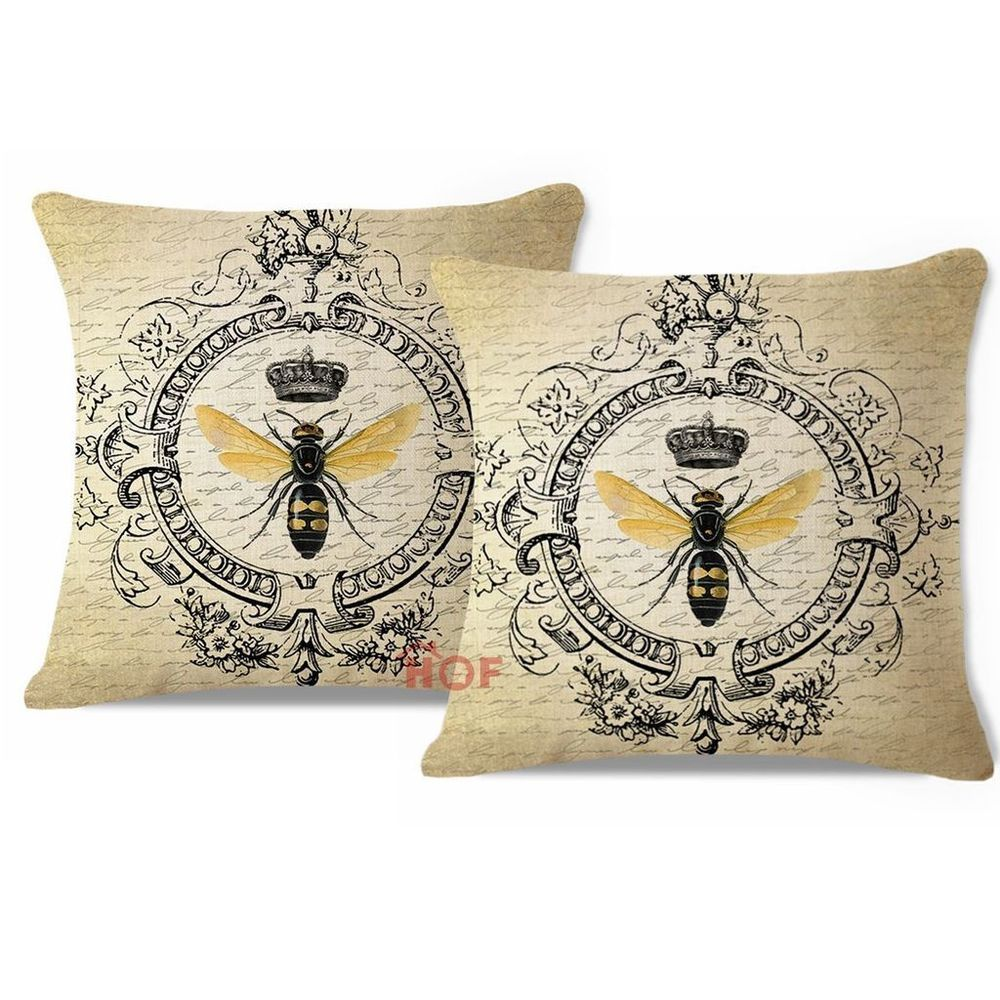 Throw Pillow Cover HEAVY WEIGHT Linen French Country Modern Queen ...