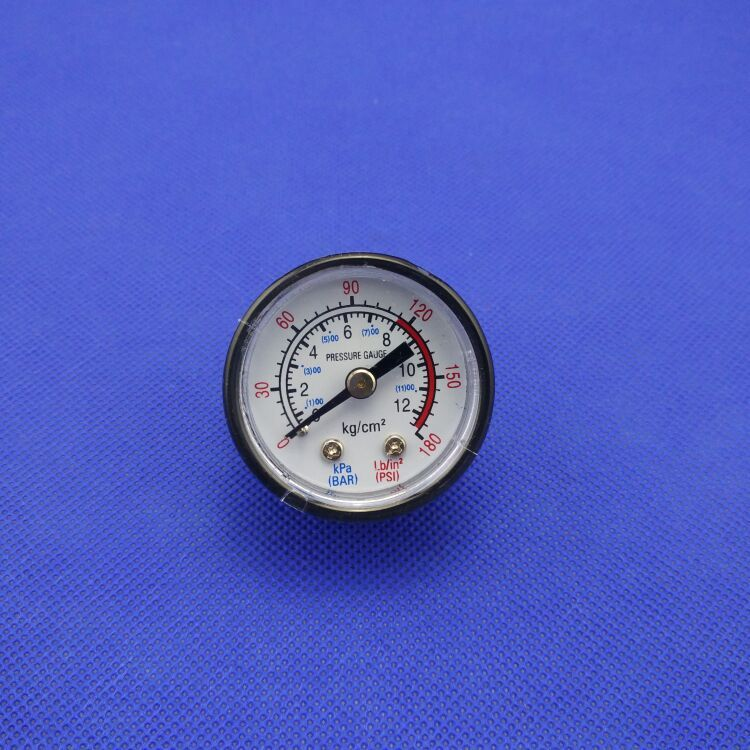 10mm Thread Dia 12 Bar Air Compressor Fittings Pressure Dial Gauge Air Compressor Air Pressure Compressor