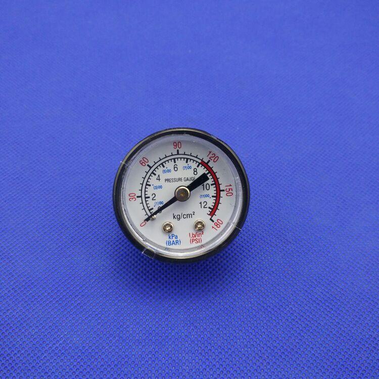 10mm Thread Dia 12 Bar Air Compressor Fittings Pressure Dial Gauge Air Compressor Air Pressure Compressor