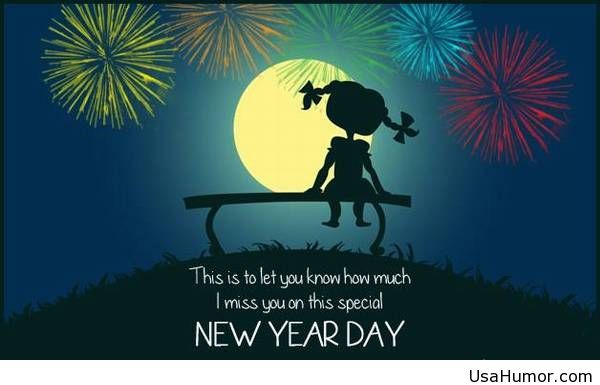 lonely happy new year saying greeting