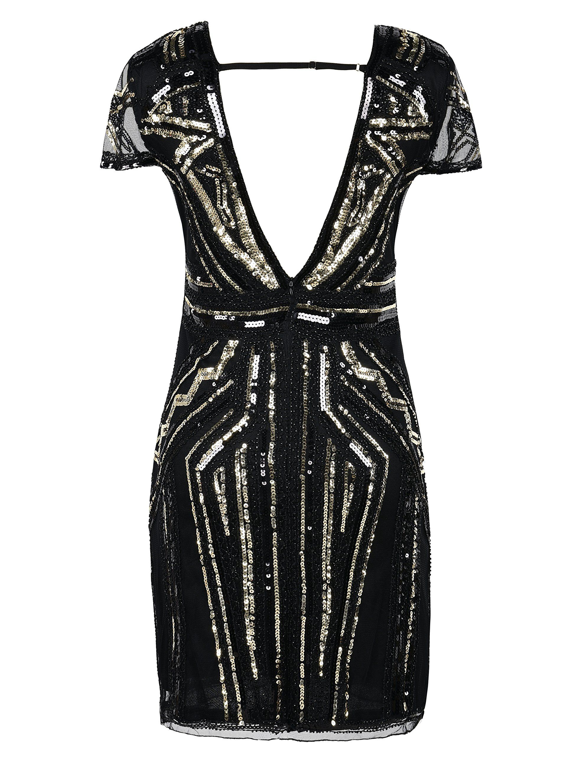 Prettyguide womens s dress vintage inspired sequin cocktail
