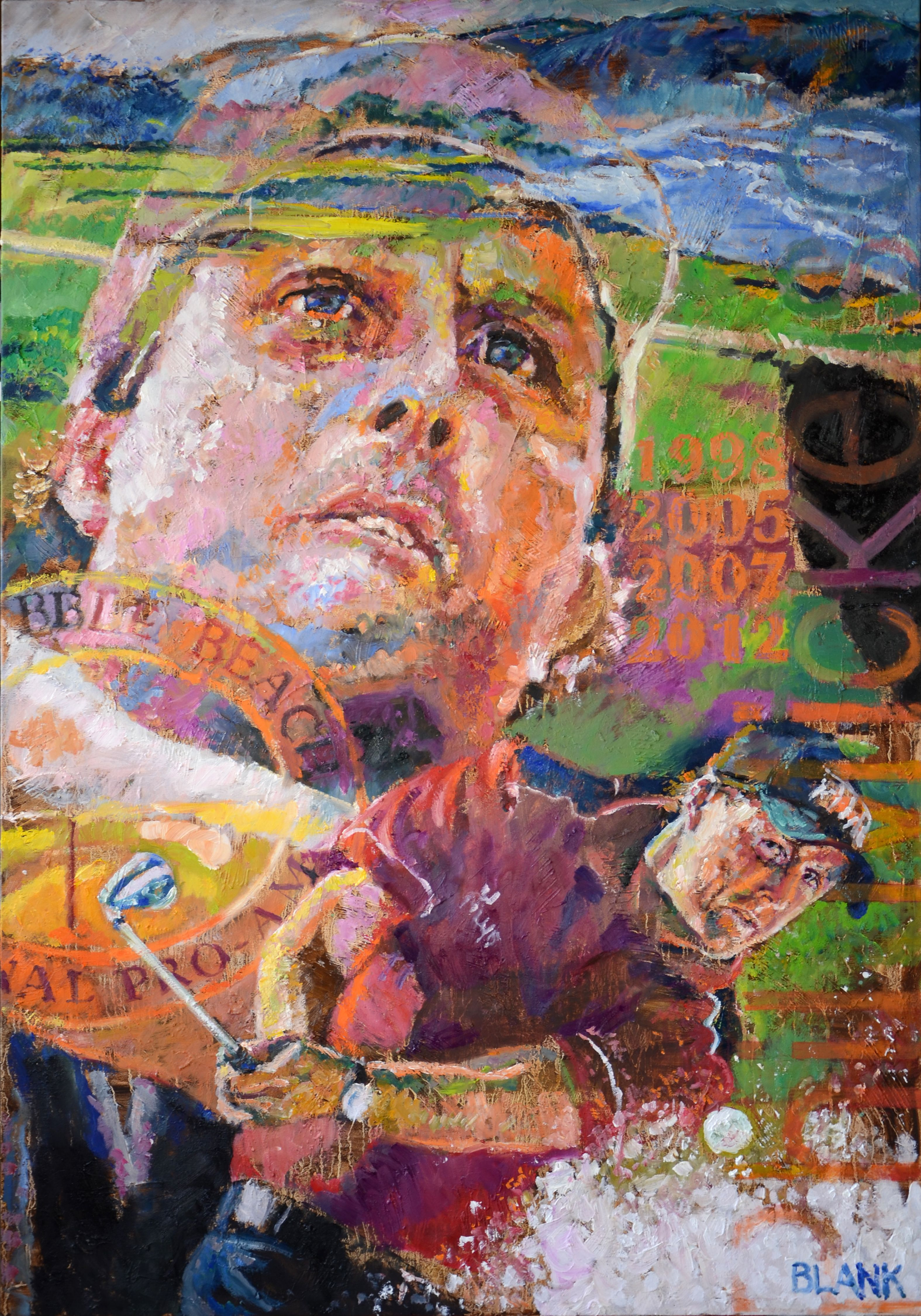 Mickelson Oil on canvas, 28