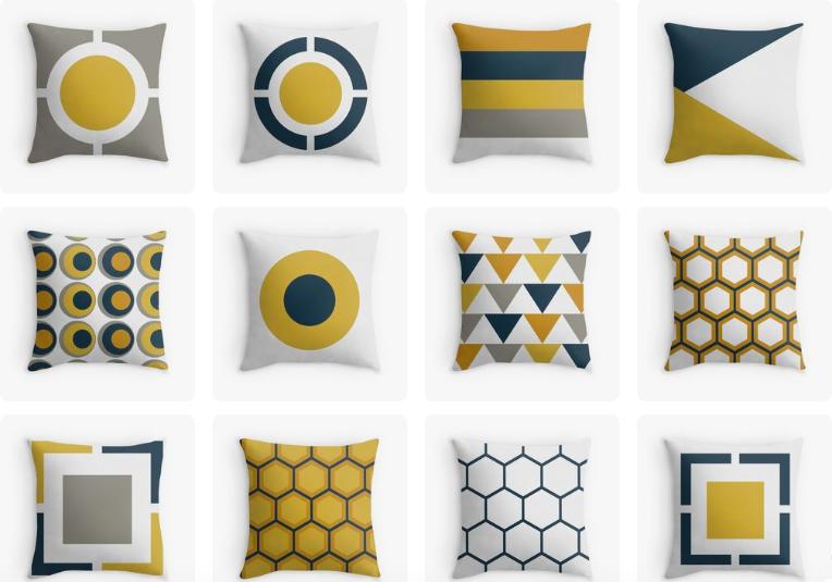 Kierkegaard Shop Yellow Throw Pillows White Throw Pillows Home
