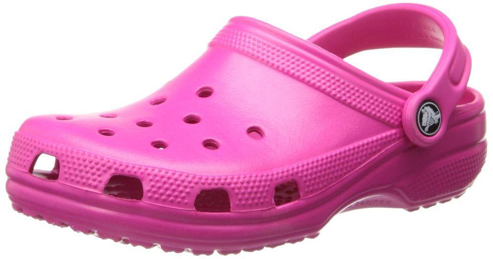895aabc6a1 Crocs Unisex Classic Clog Candy Pink Hot Pink 8 M US Mens   10 M US Womens  - NEW  Crocs  Clogs
