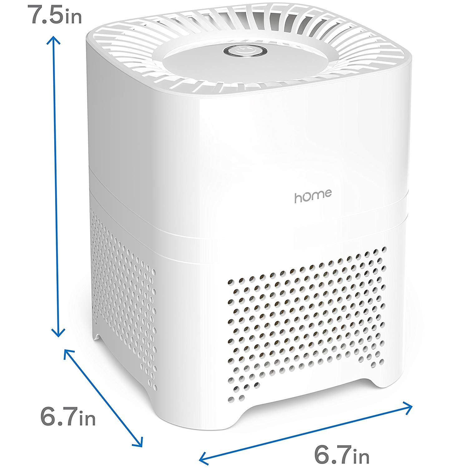 hOmeLabs 3-in-1 Compact Ionic HEPA Air Purifier Quietly Ionizes and Purifies Air