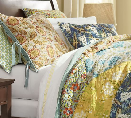 Your Organic Bedroom: Scalloped Organic Patchwork Quilt & Sham