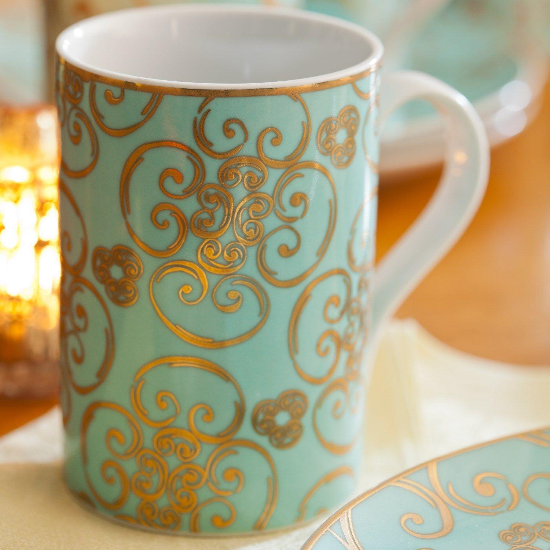 So beautiful... Rosanna Arabesque Mug Set of 4 (55