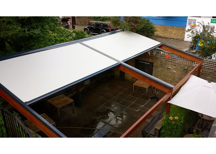 Bellfort AwningR Terrace Awning For The Lion Unicorn Fully Retracted