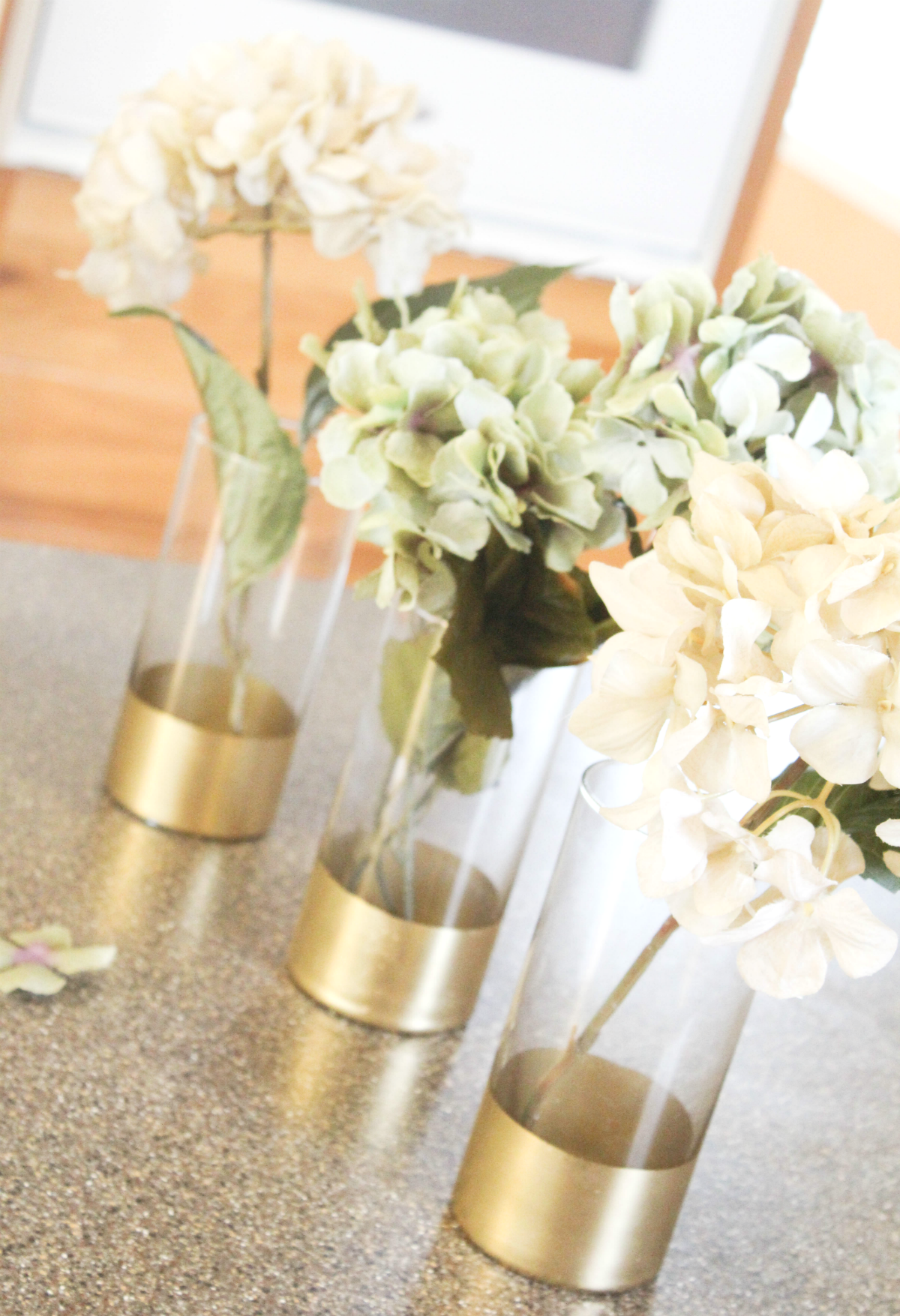 Gold Dipped Vases Cheap Wedding Table Centerpieces Flower Centerpieces Wedding Wedding Floral Centerpieces
