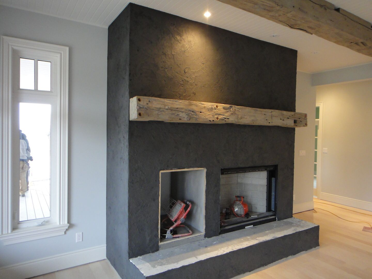 American Clay fireplace | Hawk Hill | Pinterest | Wall fireplaces ...