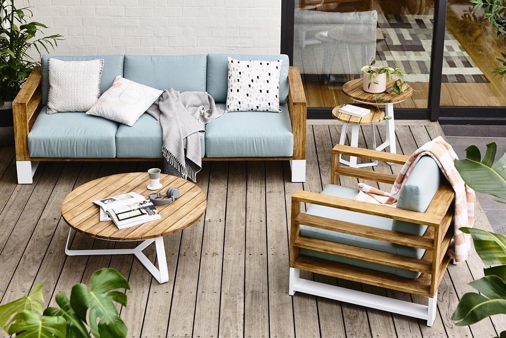 Globewest cancun ali rustic teak round side tables