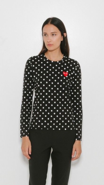 ee9d37fb5cc1 Polka Dot Long Sleeve by Comme Des Garcons Play