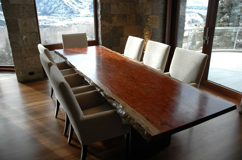 Clic Solid Wood Dining Table In Rustic House