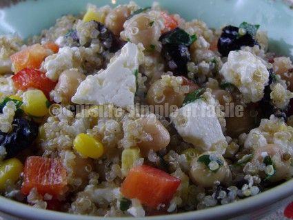 Salade composée de quinoa