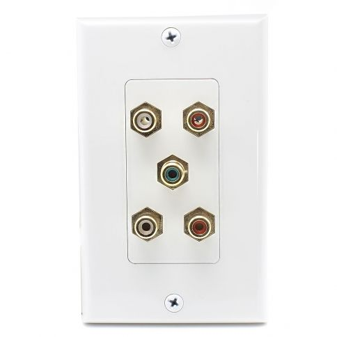 5 Port Rca Jack Connector Home Theater System Wall Plate For Usa Plates On Wall Home Theater System Wall