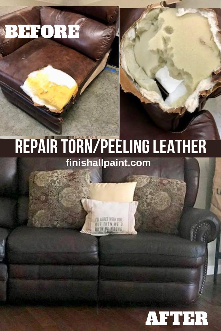 Repair Torn Peeling Leather Leather Couch Repair Reupholster